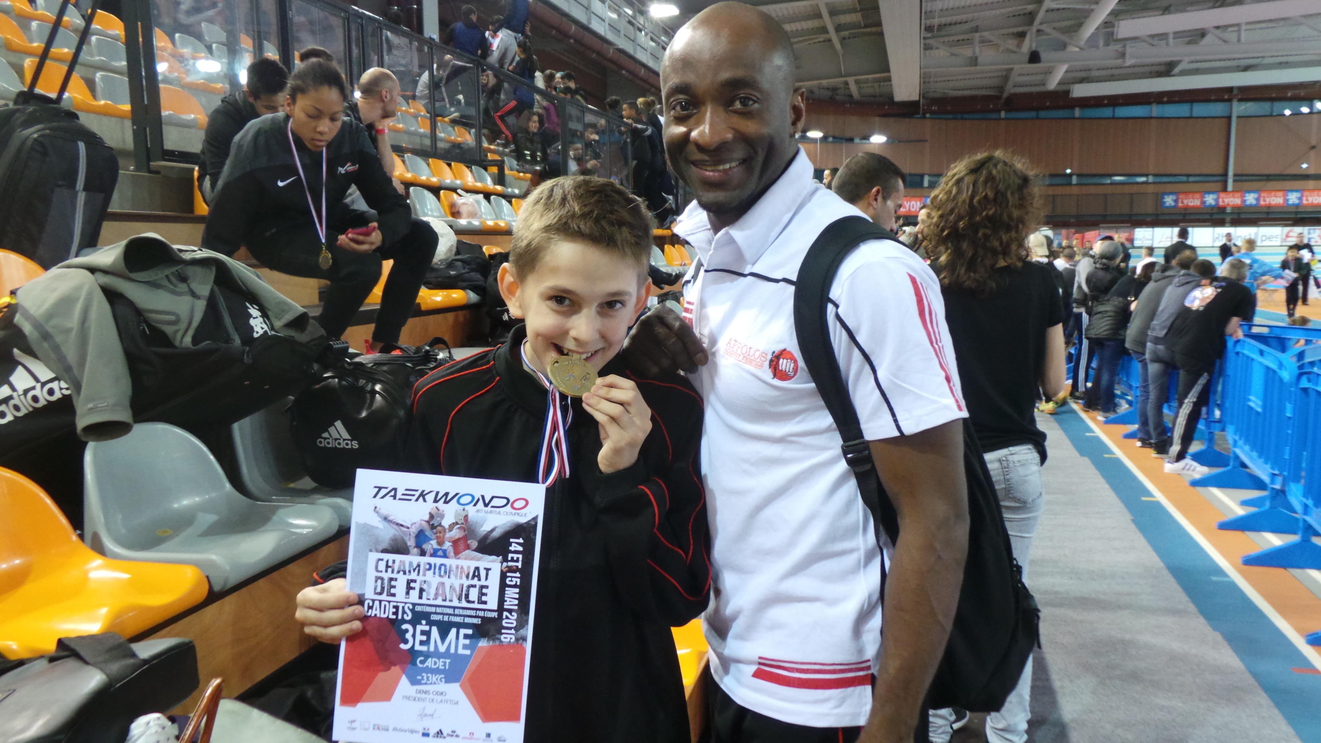 Championnat et coupe de France Minime et Cadet 2016